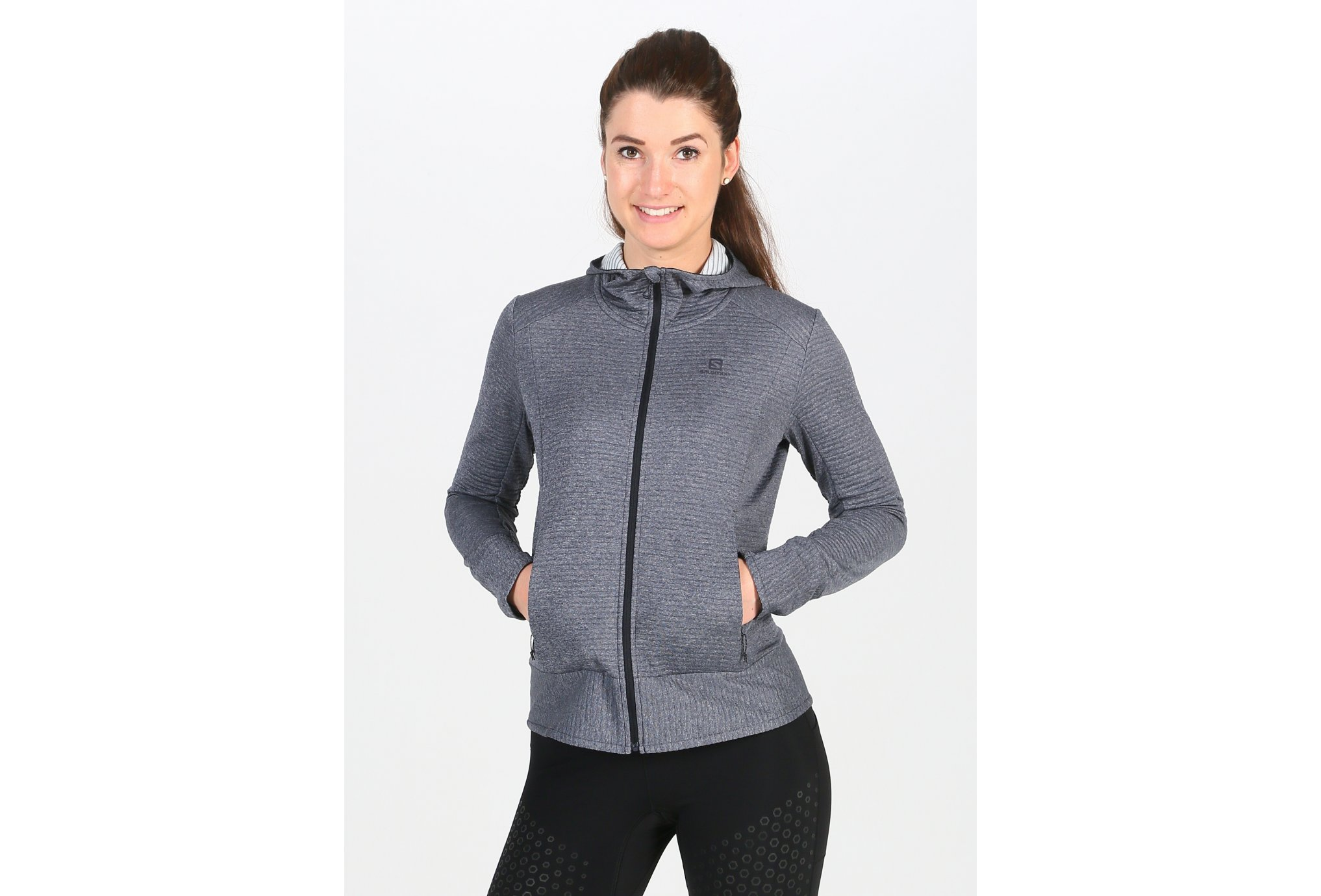 Salomon Right Nice Mid Hoodie W vêtement running femme