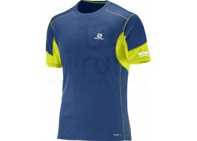 4d3557aee4efe Salomon Tee-shirt Agile M homme Bleu pas cher