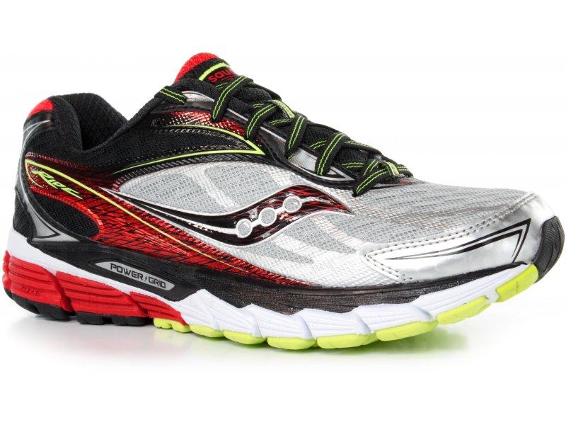 Running chaussures Saucony Argent/Noir/Rouge fournir