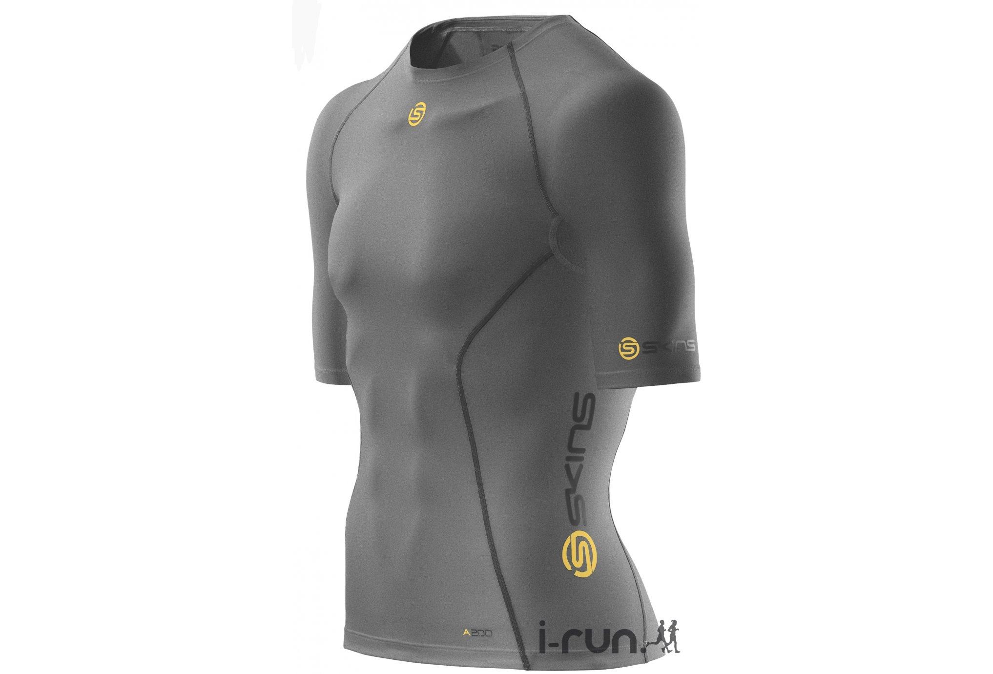Skins A200 top ss m vêtement running homme