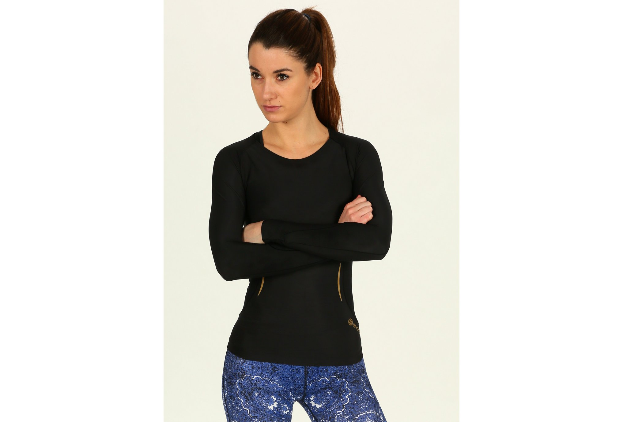 Skins A400 L/S Top W vêtement running femme
