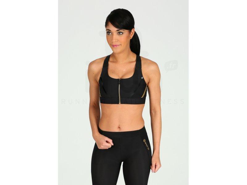 Skins A400 Speed Crop Top pas cher - Vêtements femme running Brassières    soutiens-gorge en promo 8538dcde97b
