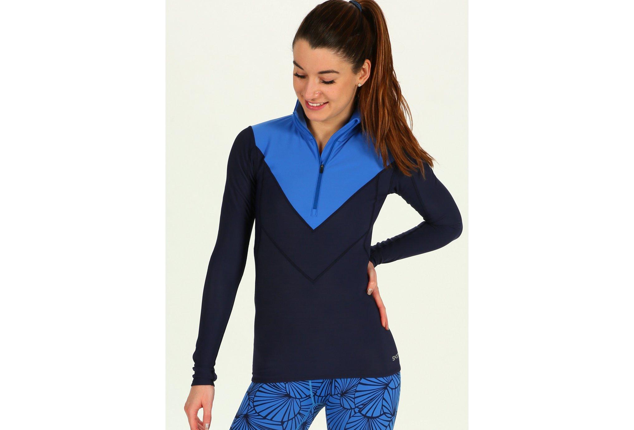 Skins DNAmic Thermal Zip W vêtement running femme