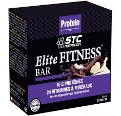STC Nutrition Etui 5 barres Elite Fitness Noix de Coco