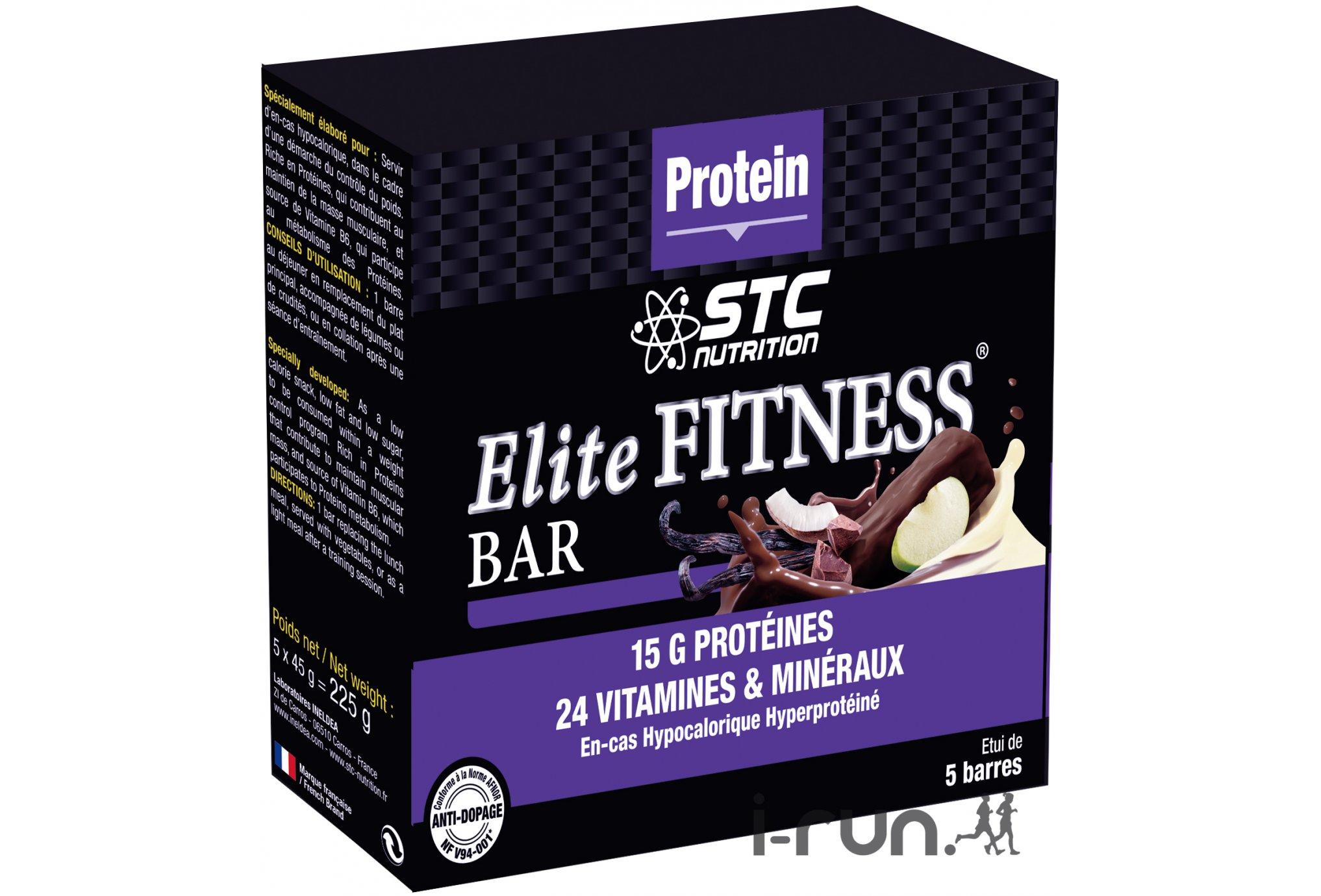 STC Nutrition Estuche de 5 barras energéticas Elite Fitness Nuez de coco Diététique Barres