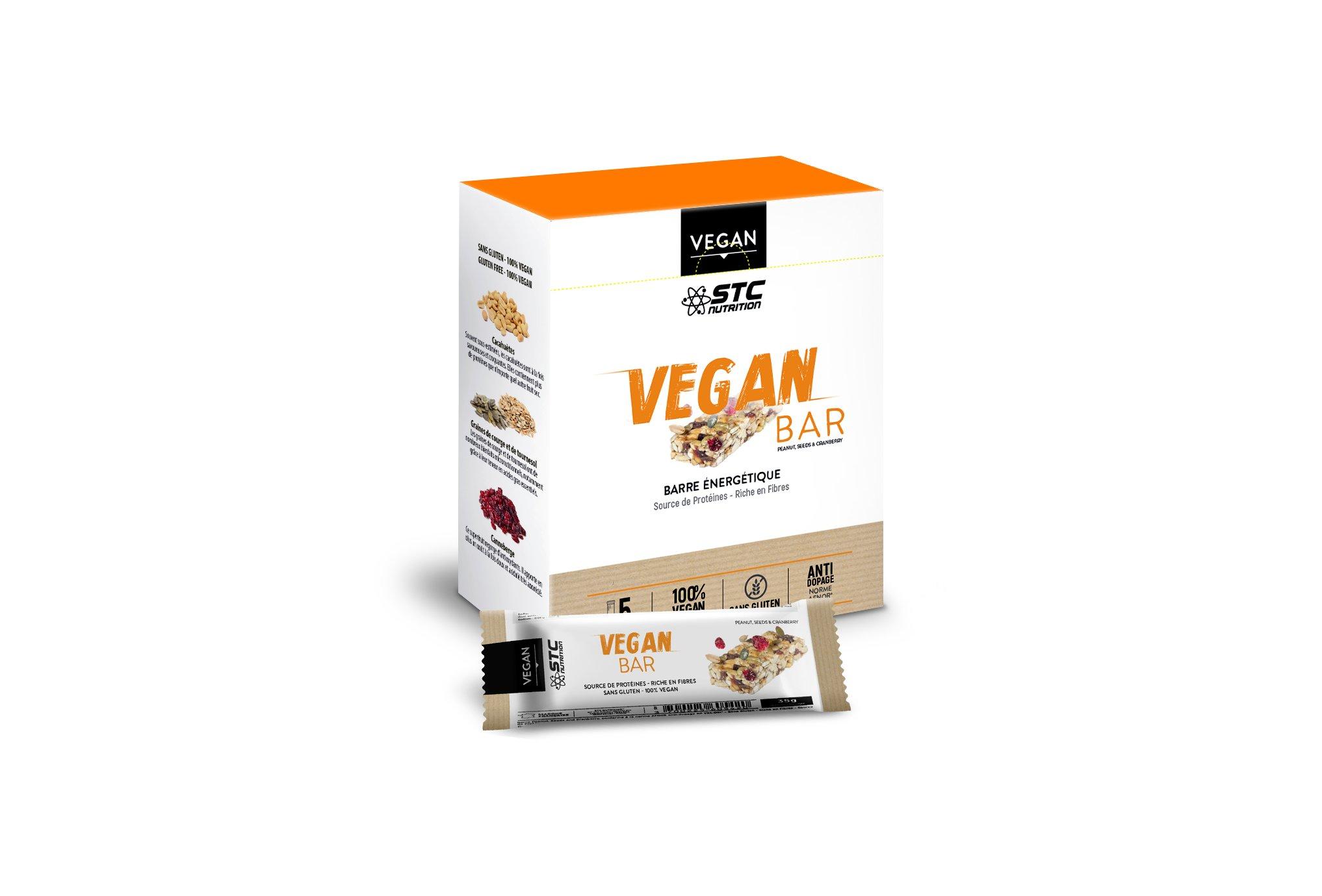 STC Nutrition Etui de 5 barres Vegan Bar Diététique Barres