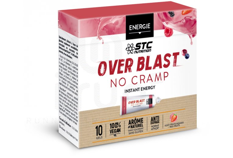 STC Nutrition Etui Gels Over Blast No Cramp - Fruits Rouges