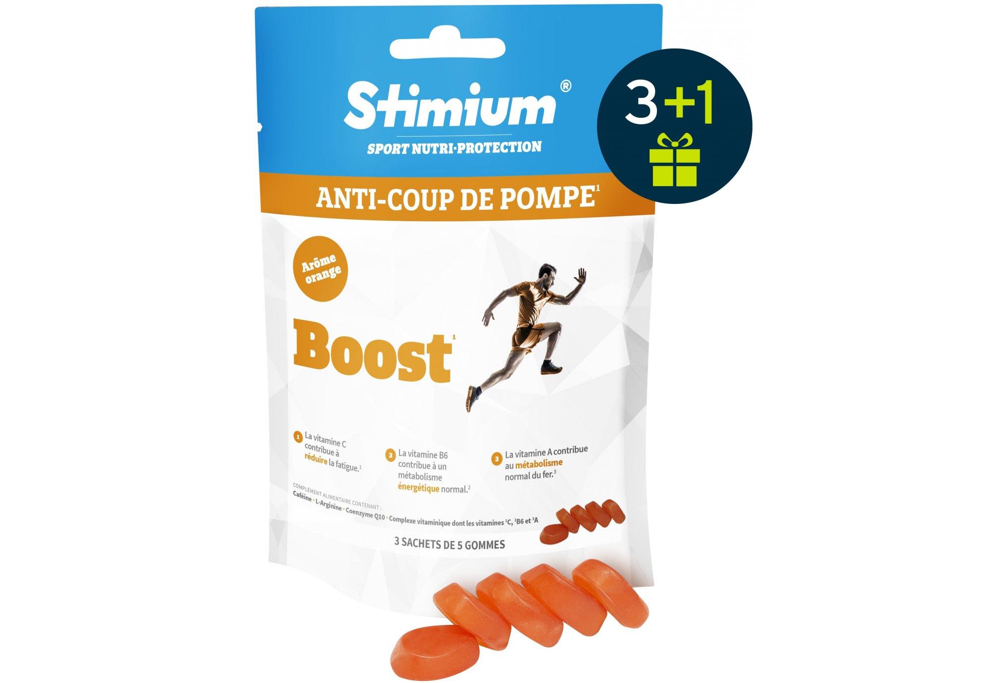Stimium Pack 3 sachets gommes boost - orange + 1 offert diététique barres