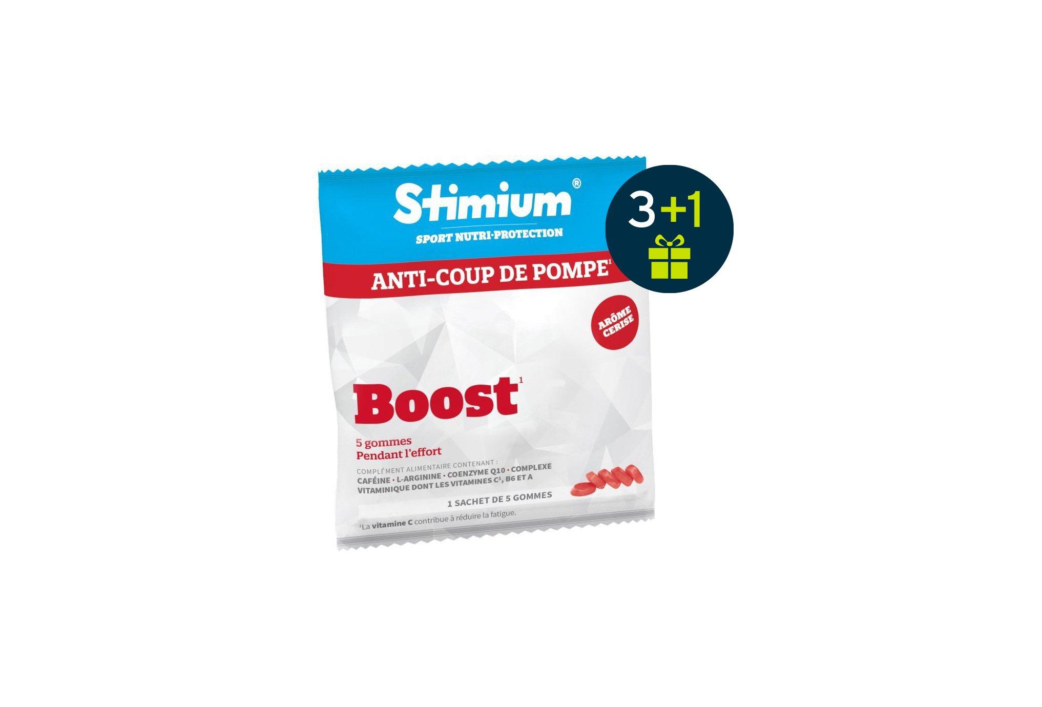 Stimium Pack de 3 sachet de 5 gommes boost - cerise + 1 offert diététique compléments