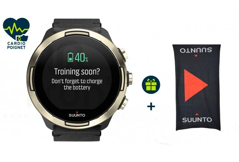 Suunto Pack 9 Baro Gold Cuir Special Edition + Buff offert