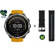 Suunto Pack Spartan Sport Wrist HR Baro Amber + Bracelet Urban 2 Cuir Offert