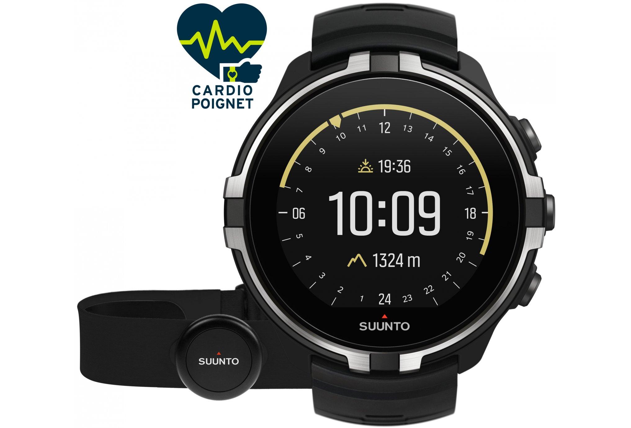 Suunto Spartan Sport Wrist HR Baro Stealth + ceinture Cardio-Gps