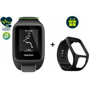 Tomtom Pack Runner 3 Cardio + Music - Small + Bracelet noir Large offert