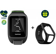 Tomtom Pack Runner 3 Cardio + Music - Small + Bracelet noir Large offert