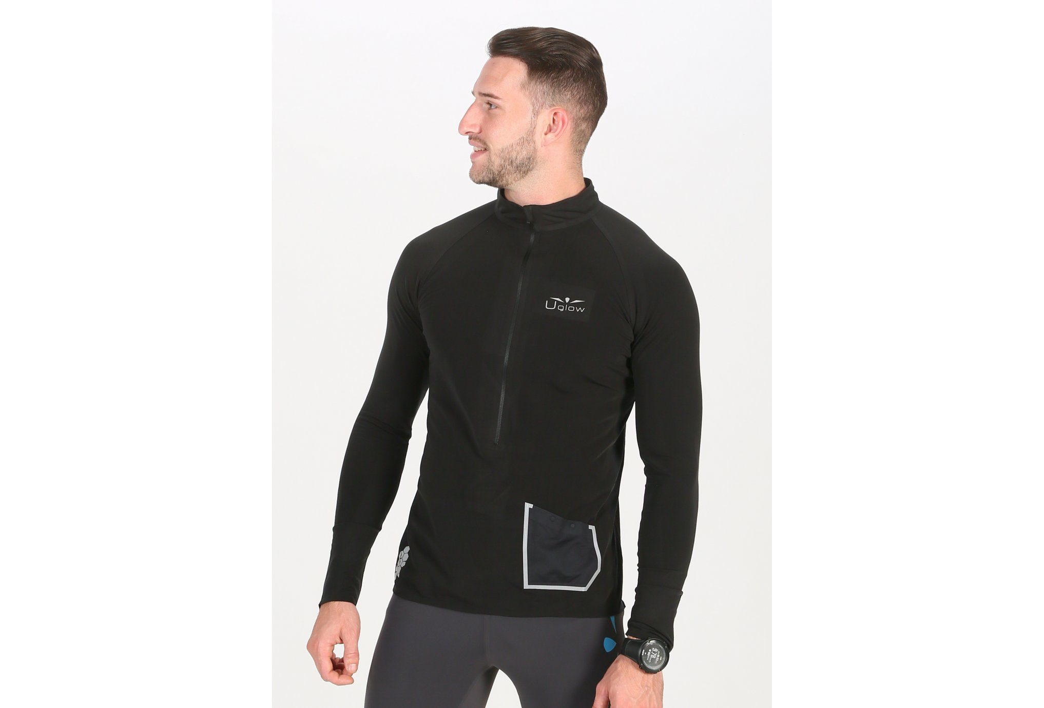 Uglow 3/4Zip Brush M vêtement running homme