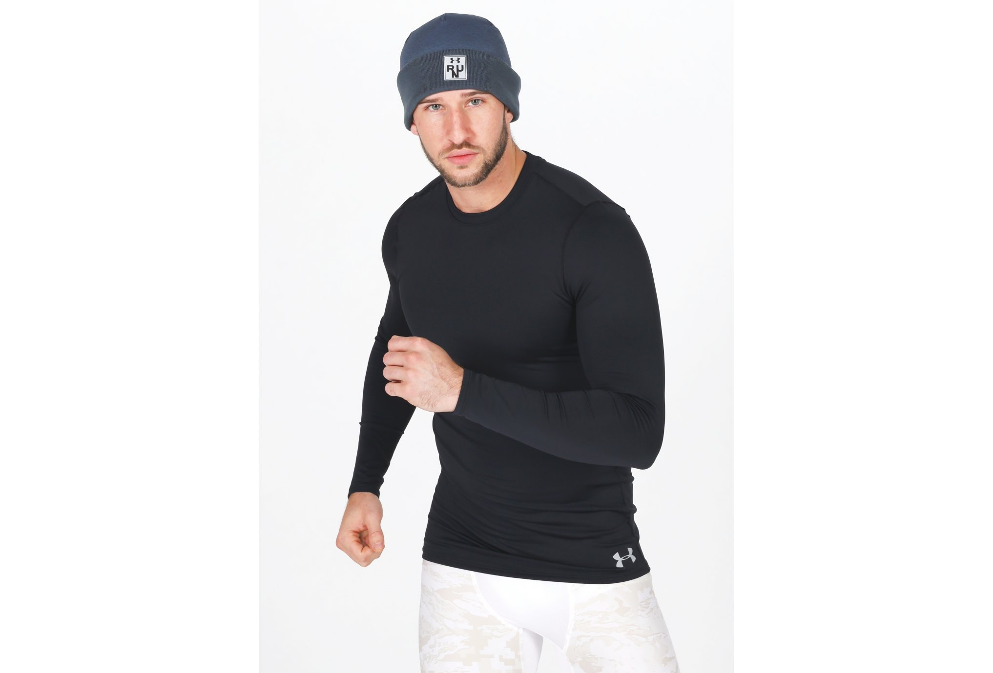 Under Armour ColdGear Fitted Crew M vêtement running homme