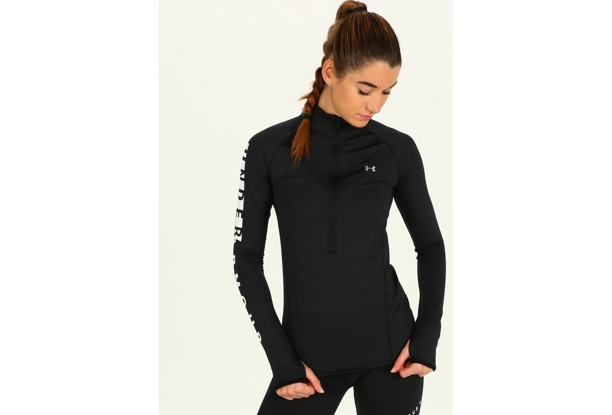Under Armour ColdGear Graphic 1/2 Zip W Diététique Vêtements femme